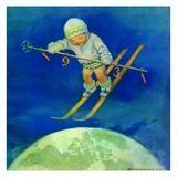 Jessie Willcox Smith Greeting Cards : Child with Skis
