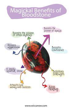Healing Rocks, Crystal Healing Stones, Stones And Crystals, Crystal Guide, Crystal Magic, Bloodstone Meaning, Birthstones Chart, Crystal Identification, Blood Stone