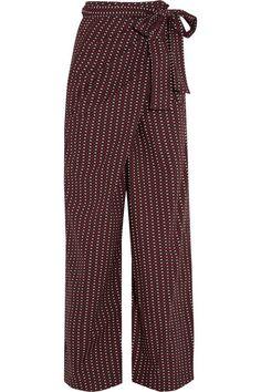 cotton wide-leg wrap pants