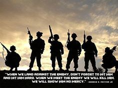 Army Poster George Patton Quotes Motivational Poster Army 18x24 Band Of Brothers, George Patton, Army Tattoos, Military Tattoos, Silhouette Fotografie, Independent Day, Soldier Silhouette, Shadow Silhouette, Islam