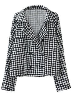 Sale 19% (24.79$) - Women Double Breasted Thousand Birds Gird Vintage Suit Coat