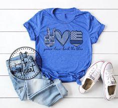 Police Shirts, Soccer Shirts, Kids Shirts, Cool Shirts, Awesome Shirts, Back The Blue Shirt, Police Wife, Shirt Outfit, T Shirt
