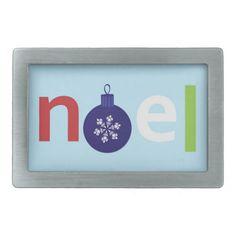 Noel Belt Buckles  #Noel #Christmas #BeltBuckle