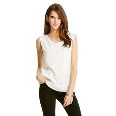 Lace Overlay Blouse - Mossimo