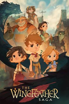 The first poster for the Wingfeather Saga animated series! This poster was made by Nicolas Kole, who has been chosen as the Production Designer for the project. I think this style fits the story PERFECTLY!!