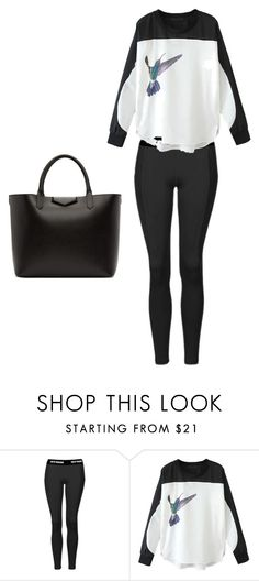 """B"" by zoebrettle ❤ liked on Polyvore featuring Topshop, WithChic and Givenchy"