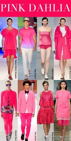 SS 2014, women's runway report, color trend pink dahlia