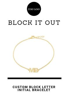 c000483f4 Show off your initials or your loved one's initials with this subtle  bracelet. Shop our