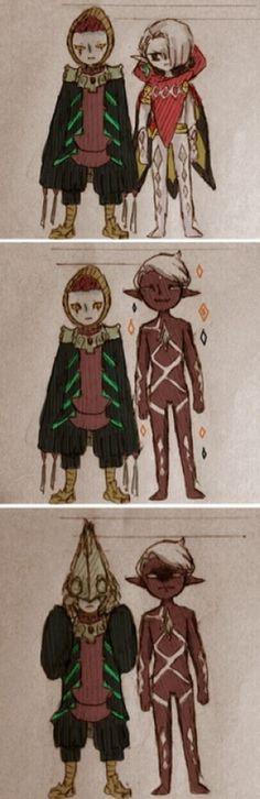 Ghirahim & Zant - height envy