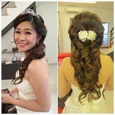 Wedding dinner makeup & hairdo Happy bride: Annie ❤
