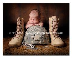 newborn military shoot <3