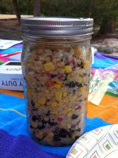 Our first camping I decided to make mason jars meals. They are easy to store and I felt so good for the weekend eating healthy food that is...