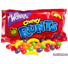Wonka Chewy Runts Candy Packs: 24-Piece Box