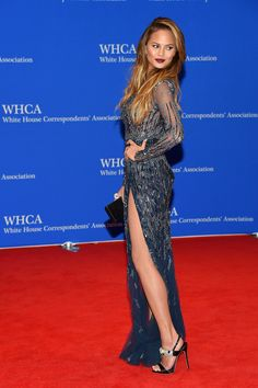 What Celebrities Wore To The White House Correspondents' Dinner This Year Chrissy Teigen  never misses a beat, but this stunning sheer Zuhair Murad gown