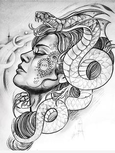 Medusa, the symbol of a woman's entrancing & enchanting pow Tattoos 3d, Finger Tattoos, Body Art Tattoos, Sleeve Tattoos, Medusa Kunst, Medusa Art, Medusa Tattoo Design, Tattoo Sketches, Tattoo Drawings