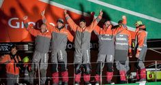 Groupama Celebrate their historic win of the Volvo Ocean Race in Galway last night