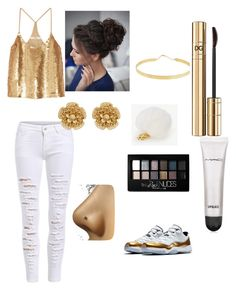 """""""Untitled #19"""" by emilia-h1104 ❤ liked on Polyvore featuring TIBI, Ann Taylor, Lana Jewelry, Miriam Haskell, Maybelline, Dolce&Gabbana and MAC Cosmetics"""
