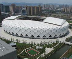 Stadium Architecture, Modern Architecture, Building Structure, Building Design, Football Stadiums, Football Liverpool, World Cup Stadiums, Civil Engineering Design, Retail Facade