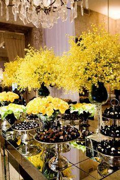 wedding,yellow wedding,yellow wedding decor,yellow wedding decorations,wedding favors,wedding cake,wedding design,truffle wrappers,truffle wrapper,black and yellow wedding,black wedding,black and yellow wedding decor