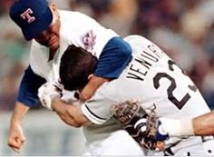 Nolan Ryan teaching a valuable lesson to Robin Ventura.