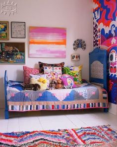 gorgeous colorful vintage kid's room@
