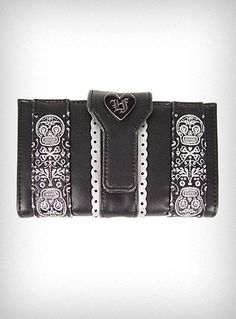 ☆ Sugar Skull Leather Embroidered Wallet ☆