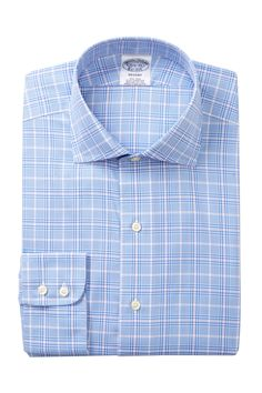 Brooks Brothers - Plaid Print Slim Fit Dress Shirt is now 58% off. Free Shipping on orders over $100.