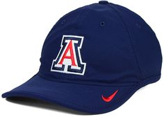 College basketball fans are always on the court with this Nike NCAA H86 Vapor cap. This Dri-FIT cap features a high crown, firmly-shaped bill and the Arizona Wildcats logo at the front. High crown Structured fit Normal bill Flat embroidered team logo at front Stitched Nike swoosh logo at bill Patch brand logo at back Adjustable velcro closure at back Polyester Spot clean only