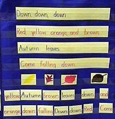 fall pocket chart