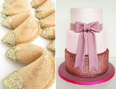 Desserts with Edible Glitter-the glitter is eye candy! I want the desserts more, now!