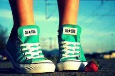 """All Star"" cor verde água formato sapatilha"