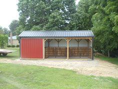 Mini Horse Barn, Small Horse Barns, Horse Shed, Horse Barn Plans, Show Cattle Barn, Backyard Barn, Lamas, Loafing Shed, Horse Shelter
