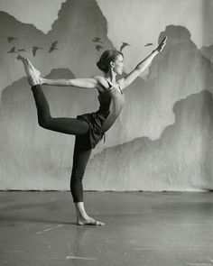 """What it does: Opens the front of the hips and the chest; strengthens the back muscles; promotes feelings of liberation. """"It almost feels like you're levitating,"""" Birch says.  How to do it: Stand with your feet together. Bend your right knee and lift your right foot toward your right buttock. Hold the top of your foot or inside of your ankle with your right hand. Extend your left arm straight out in front of you. To help you balance, find a spot on the horizon to gaze at and keep your..."""