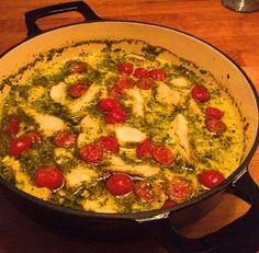 Guttas Kjøkken: Italiensk Bacalao Paella, Quiche, Food And Drink, Favorite Recipes, Breakfast, Ethnic Recipes, Cod, Morning Coffee, Quiches