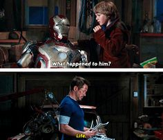 What happened to him? // Life. <<me too, suit whatever-your-number-is, me too.