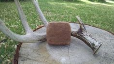 Hunting soap, acorn apple scented all natural felted soap Etsy listing at https://www.etsy.com/listing/231587873/acorn-apple-scented-hunting-soap-felted