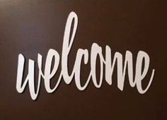 Metal welcome sign Metal Welcome Sign, Plasma Cutting, Pantone Color, Color Trends, Signs, Chocolate, Cream, Products, Chowder