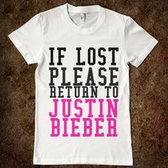 If Lost Return To Justin Bieber