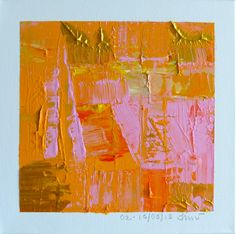 "Orginal Fine Art by J. Williams Wiegand 10'x10"" acrylic on canvas"