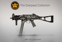 Counter-Strike Global Offensive: The Overpass Collection: UMP-45 Scorched