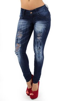 Distressed Maripily Skinny Jean #denimlovers #maripilyskinnyjeans #womenskinnyjeans