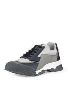 Prada Nylon Runway Trainer Sneakers - Gri #prada #pradaturkiye #pradafiyat #orjinalprada