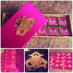 Customized chocolate boxes for wedding