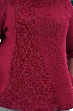 Winterberry pattern by Jennifer Wood Sweater Knitting Patterns, Easy Knitting, Knit Patterns, Jennifer Wood, Knitted Coat, Sweater Design, Knit Cardigan, Knit Crochet, Winter Sky
