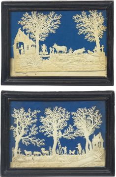 A PAIR OF DUTCH CUTWORK PICTURES   lot   Sotheby's