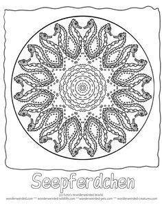 Seepferdchen mandala Ausmalbild, Mandala Seepferdchen - Kostenlose Malvorlagen für Kinder, Unsere  mandala malvorlagen tiere mite Seepferdchen Bild