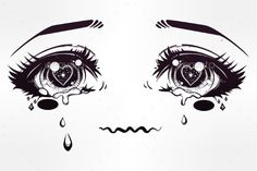 Crying Eyes in Anime or Manga Style - #Miscellaneous #Vectors Download here:  https://graphicriver.net/item/crying-eyes-in-anime-or-manga-style/18614846?ref=alena994