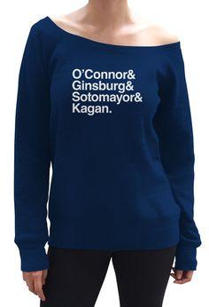Women's O'Connor Ginsburg Sotomayor Kagan Scoop Neck Fleece - Juniors Fit