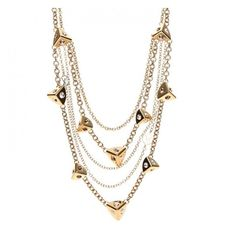 LOUIS VUITTON Trunkies Strass Necklace Gold ❤ liked on Polyvore featuring jewelry, necklaces, chain necklace, gold charm necklace, gold charms, louis vuitton necklace and pyramid necklace
