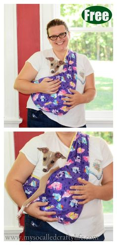 Best Pictures Sewing projects for dogs Popular Dog Sling Carrier Free Sewing Pattern Dog Clothes Patterns, Sewing Patterns Free, Free Sewing, Dog Pouch, Dog Carrier Bag, Dog Harness, Dog Leash, Pet Clothes, Dog Clothing